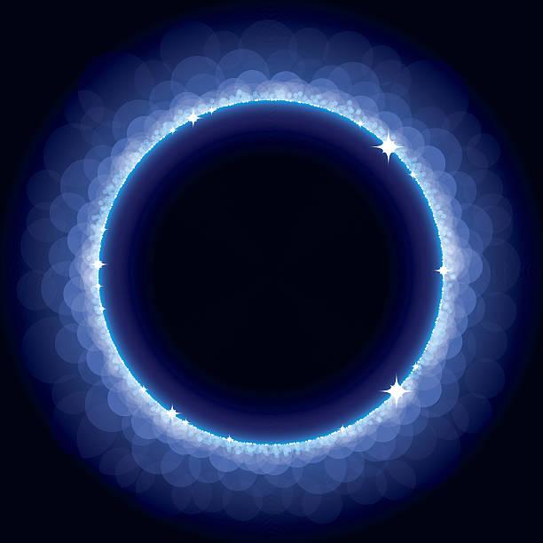 Abstract Blue Eclipse Vector Illustration of an Abstract Blue Eclipse with copy space for your message corona sun stock illustrations
