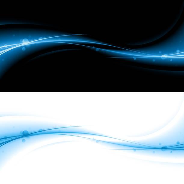 抽象的なブルーのエネルギーの背景 - 光 黒背景点のイラスト素材/クリップアート素材/マンガ素材/アイコン素材