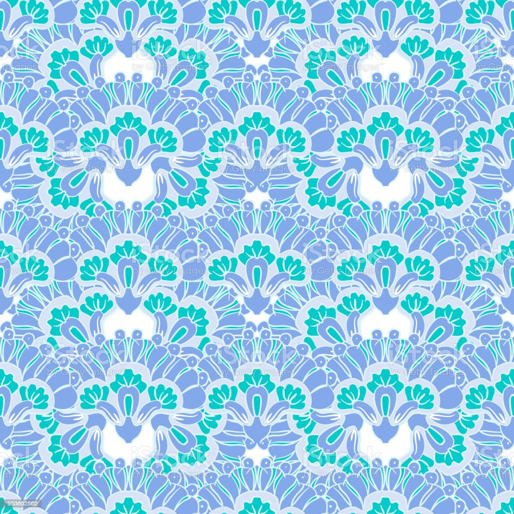 Abstract blue flowers pattern stock vector art more images of abstract blue flowers pattern royalty free abstract blue flowers pattern stock vector art amp izmirmasajfo