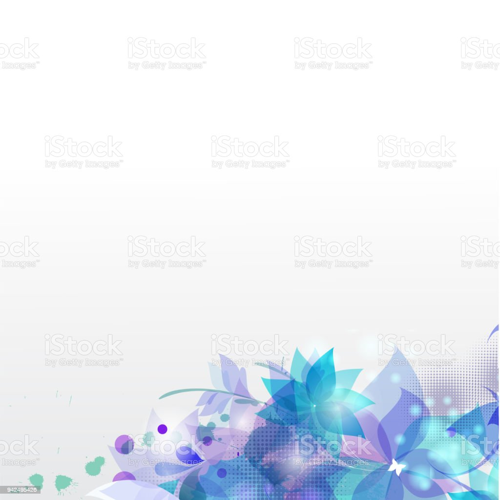 Abstract blue flowers white background vector image stock vector art abstract blue flowers white background vector image royalty free abstract blue flowers white background vector izmirmasajfo