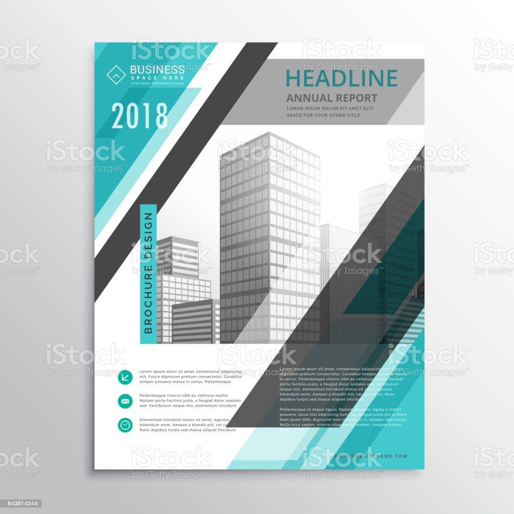 Ilustración de Abstracto Azul Flyer Folleto Plantilla Diseño Para La ...