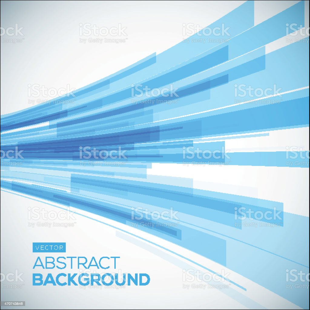 Abstract blue geometric background. 3D perspective background with 3D lines. vector art illustration