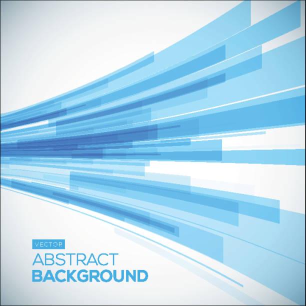 abstrakte blaue geometrische hintergrund.   3 d perspektive hintergrund mit 3d-linien. - breit stock-grafiken, -clipart, -cartoons und -symbole