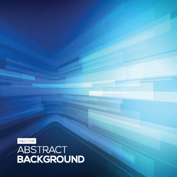 Abstract blue geometric background. 3D perspective background with 3D lines. Abstract blue geometric background. 3D perspective background the bigger picture stock illustrations