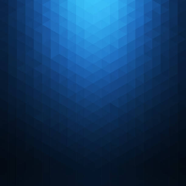 abstract blue geometric background. polygonal mosaic. creative design templates - blue stock illustrations