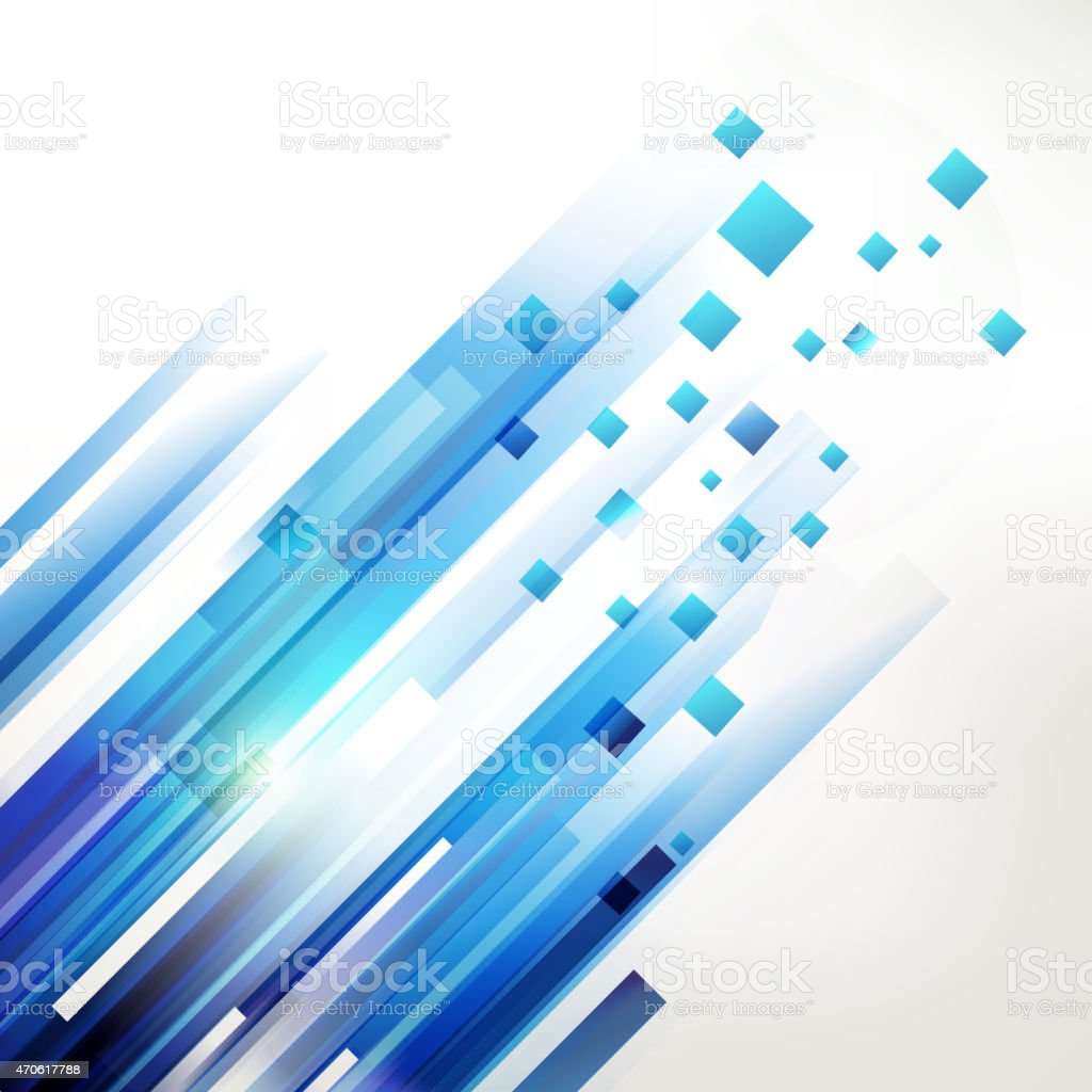 Abstract blue geometric corner elements vector art illustration