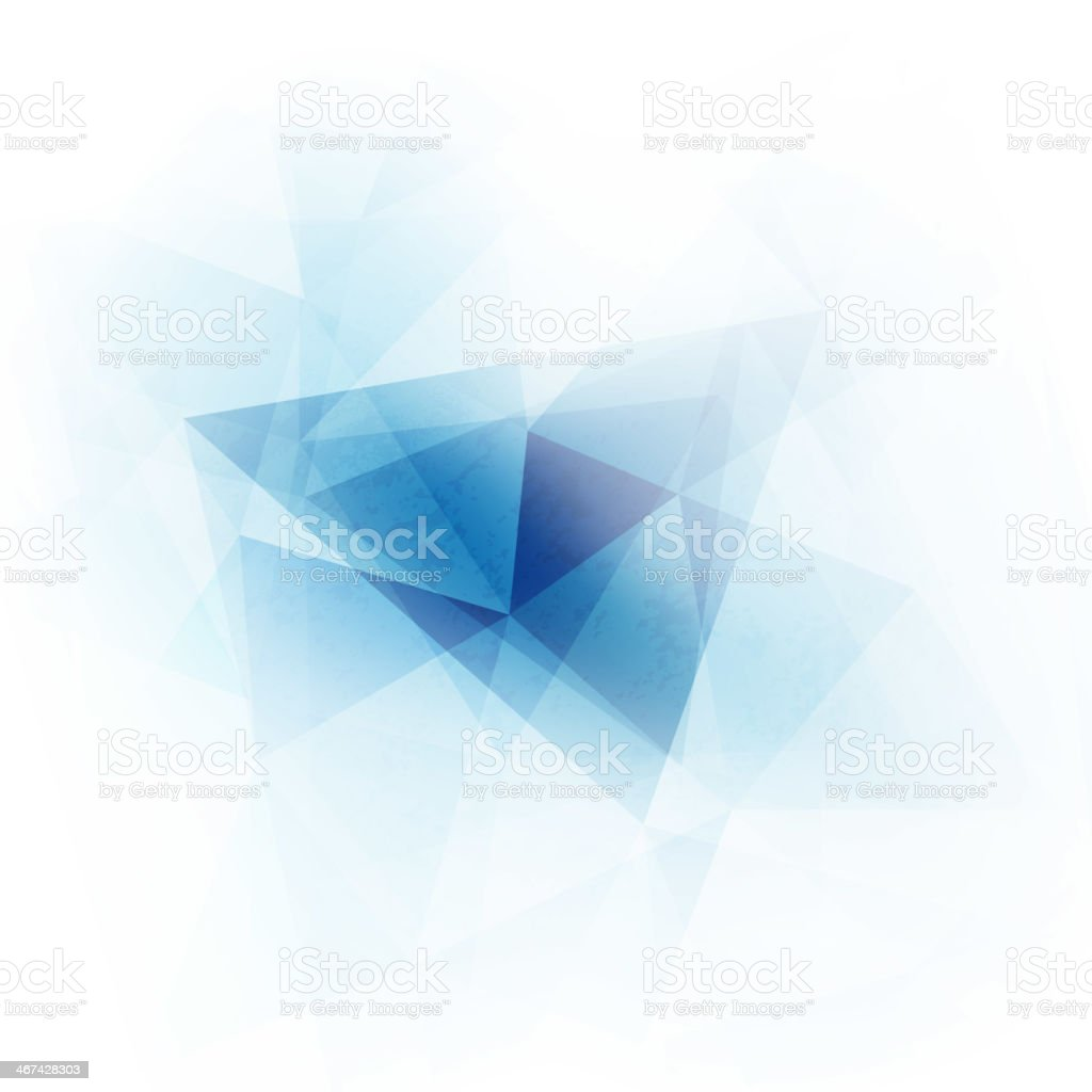 Abstract blue geometric triangles background vector art illustration