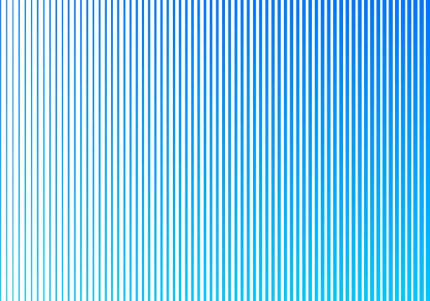 stockillustraties, clipart, cartoons en iconen met abstracte blauwe gradiënt kleur verticale lijnenpatroon op witte achtergrond. ontwerp van de rasterstijl. - parallel