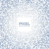 Abstract blue gray light pixel background