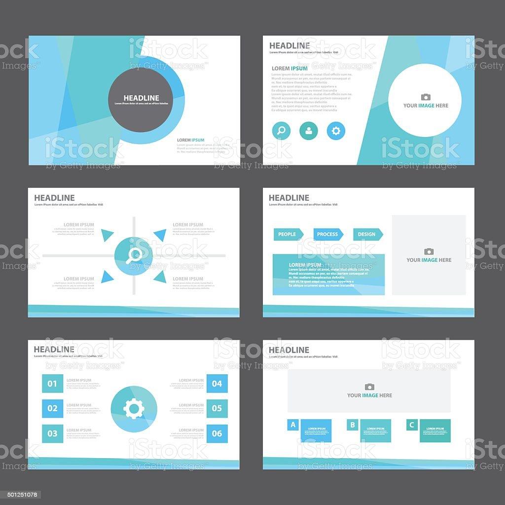 Abstrakt Blau Grün Infografikelementevorlage Für Präsentation ...