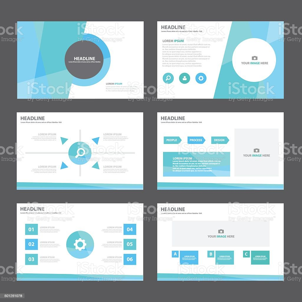 Abstract Blue Green Infographic elements presentation template flat design vector art illustration