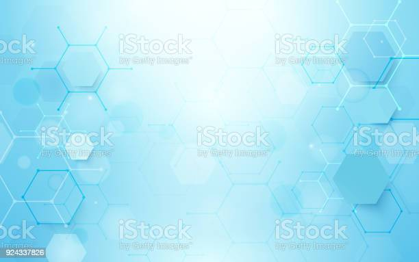 Abstract blue hexagons shape and lines with science concept vector id924337826?b=1&k=6&m=924337826&s=612x612&h=fgxzcegckb7s0p0dw5mamsbwacuxu9ufvrefwjk5sf0=
