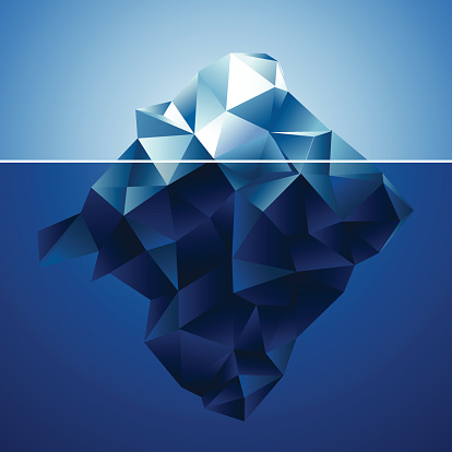 abstract blue iceberg pattern background
