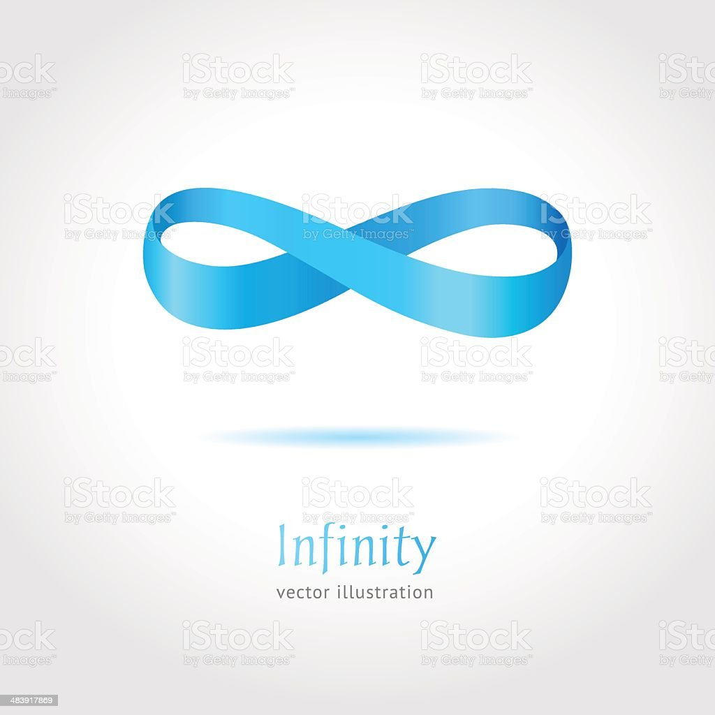 Abstract blue Infinity symbol vector art illustration