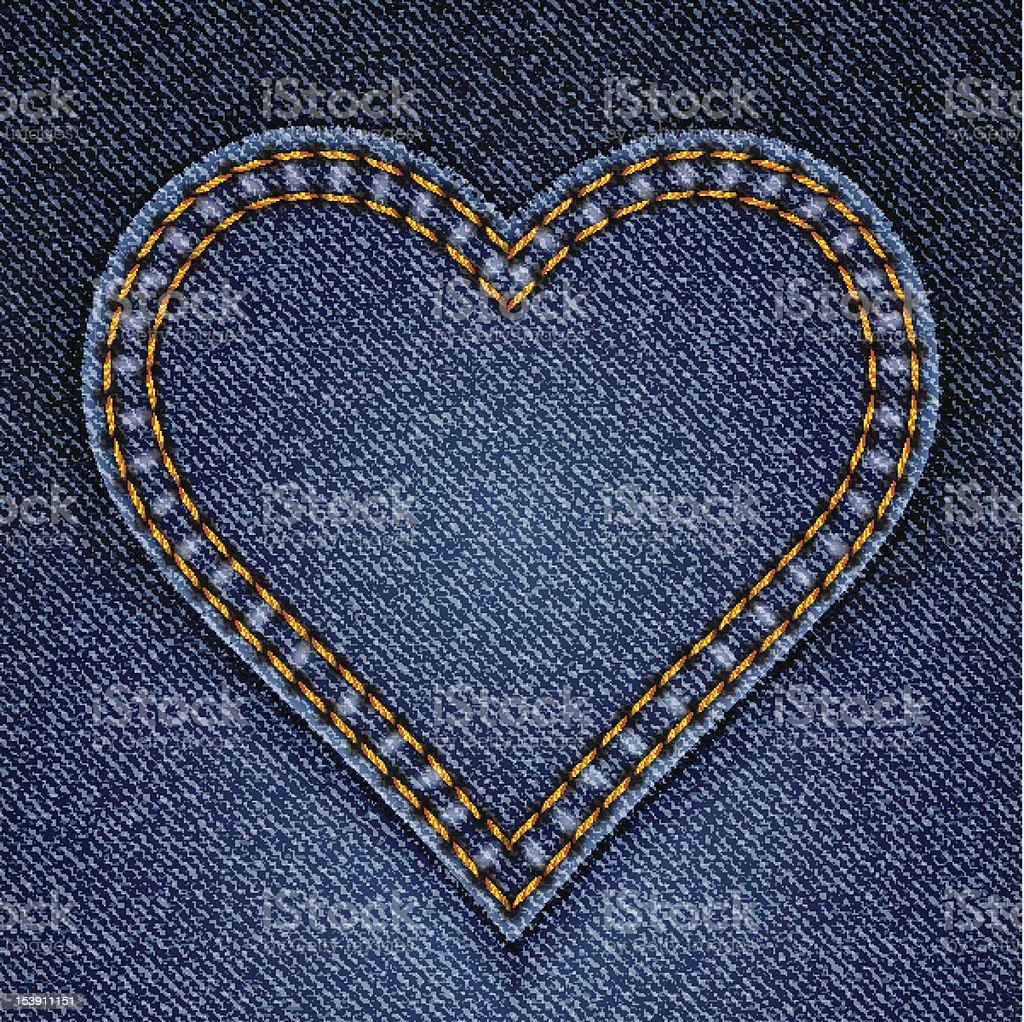 2b8b6ae9f Ilustración de Abstract Blue Jeans Corazón Sobre Fondo De Vaquero y ...