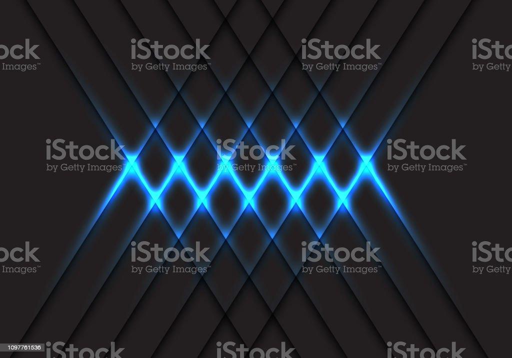10297844 Abstract blue light cross pattern on grey design modern futuristic  technology background vector illustration. royalty