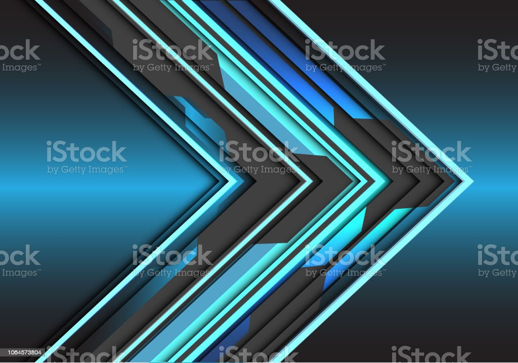 7c2a07c7 Abstract blue light grey circuit arrow direction design modern futuristic  technology background vector illustration. royalty