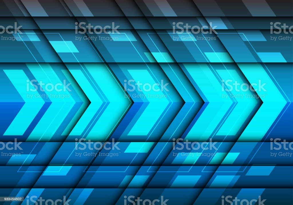 f7430cba Abstract blue light metal arrow 3D design modern futuristic background  vector. royalty-free abstract