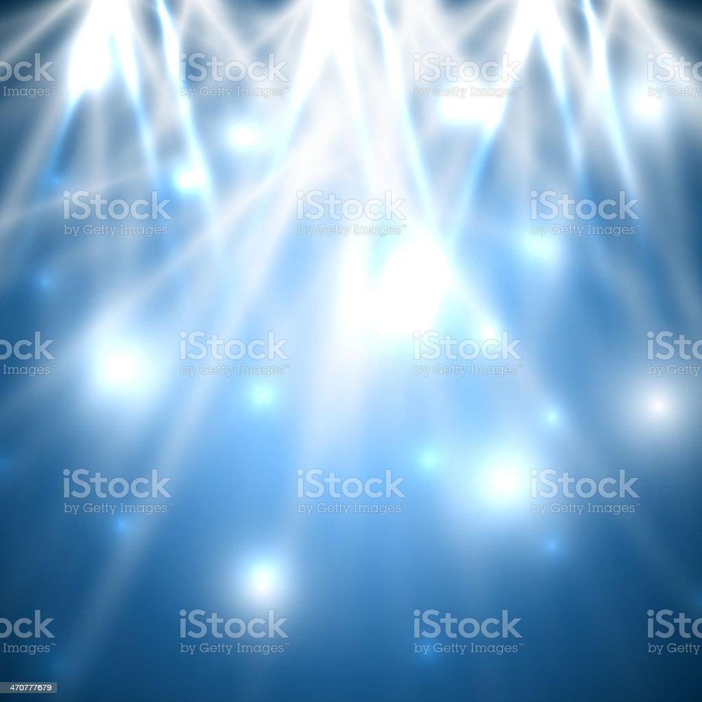 Abstract blue lights background vector art illustration