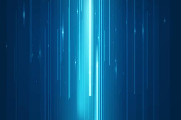 Abstract blue lines vector art illustration