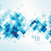 istock Abstract Blue Low Poly Background 496035857