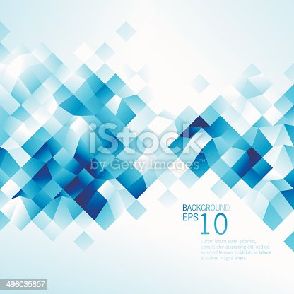 Vector illustration of Abstract Blue Low Poly Background are done by single gradient tone only. Change color is easy, simply select the whole Background and change the gradient's color.