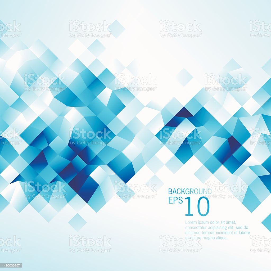 Abstract Blue Low Poly Background vector art illustration