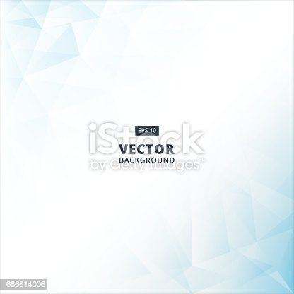 istock Abstract blue Lowpoly vector background. Template for style design. Vector illustration 686614006