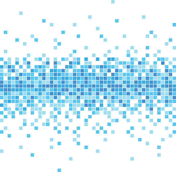 abstract blue mosaic background - illustration - flowing stock illustrations, clip art, cartoons, & icons