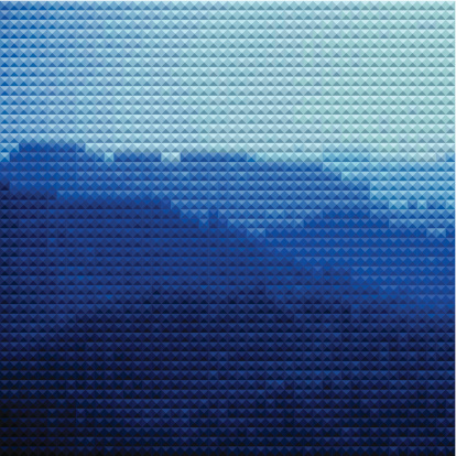 abstract blue mosaic check mountain pattern background