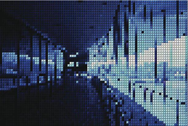 abstrakte blaue mosaik im inneren des gebäudes muster hintergrund - spiegelfliesen stock-grafiken, -clipart, -cartoons und -symbole