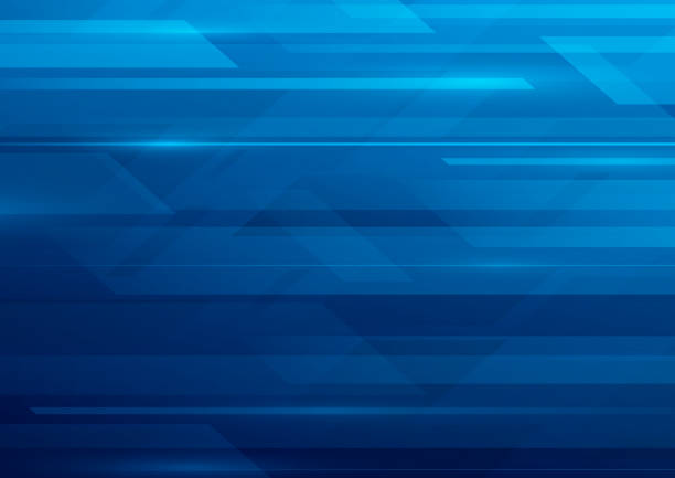 Abstract blue motion background vector art illustration