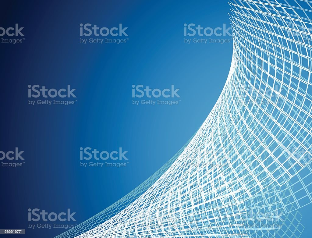 abstract blue net pattern technology background vector art illustration