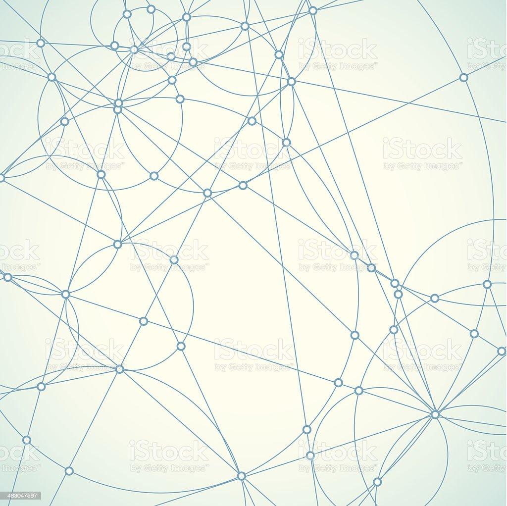 abstract blue network shape background vector art illustration