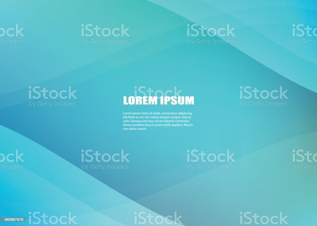 Abstract Blue Ocean Vector Modern Colorful Brochure And Design