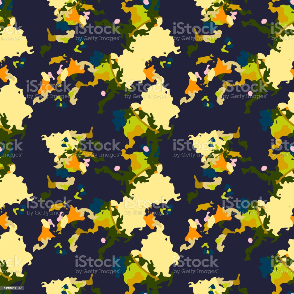 Abstract Blue Orange Green Yellow Background As Ufo Camouflage Stock ...