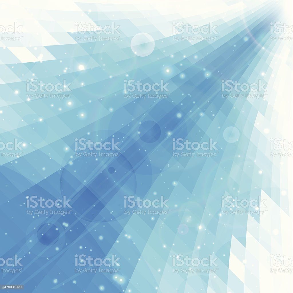 Abstract blue perspective background vector art illustration