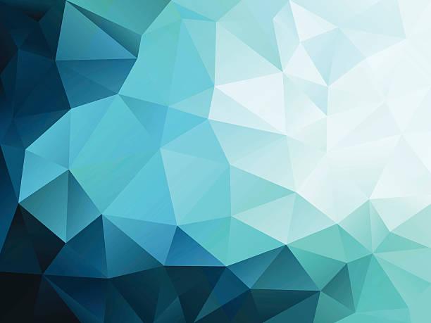 abstrakt blau polygonal hintergrund - mosaikglas stock-grafiken, -clipart, -cartoons und -symbole