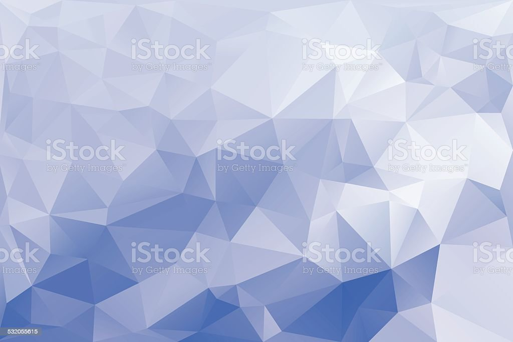 Fond bleu abstrait polygonal - Illustration vectorielle