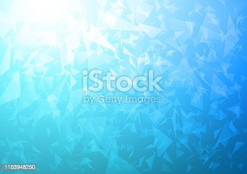 Modern blue exploding space portal vector background
