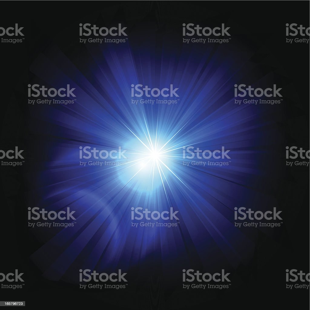 Abstract Blue Rays royalty-free abstract blue rays stock vector art & more images of abstract