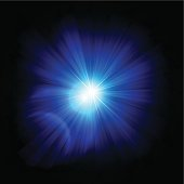 Abstract Blue Rays
