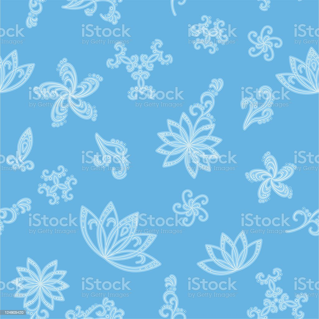 Abstract blue seamless background royalty-free stock vector art