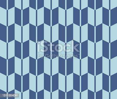 istock Abstract Blue Seamless Geometric Pattern Background 1311554091