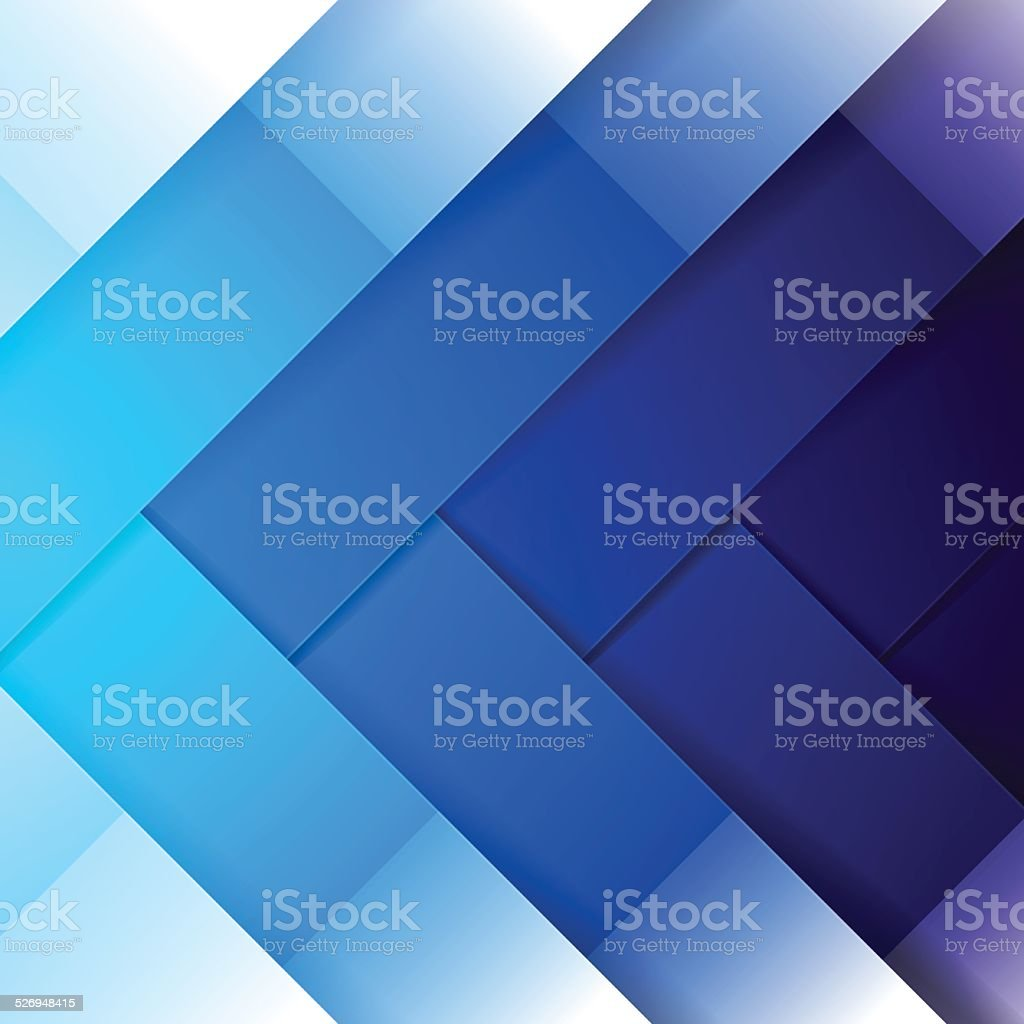 Abstract blue shining rectangle shapes background vector art illustration