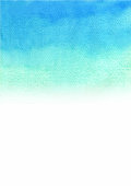 Abstract blue sky color gradient background watercolor hand painting.