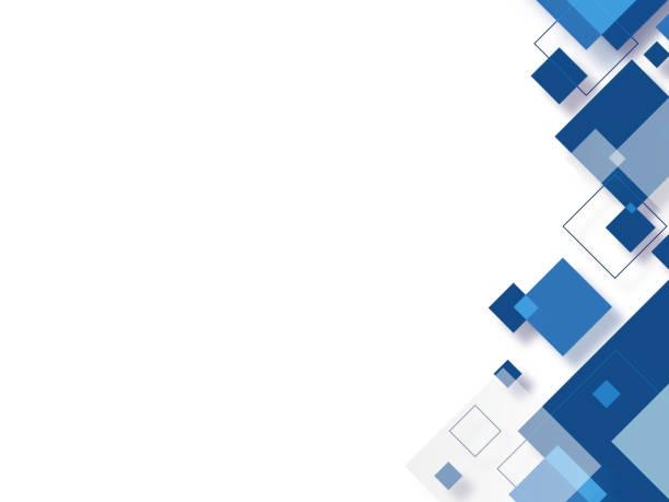 ilustrações, clipart, desenhos animados e ícones de fundo quadrado azul abstrato - abstract