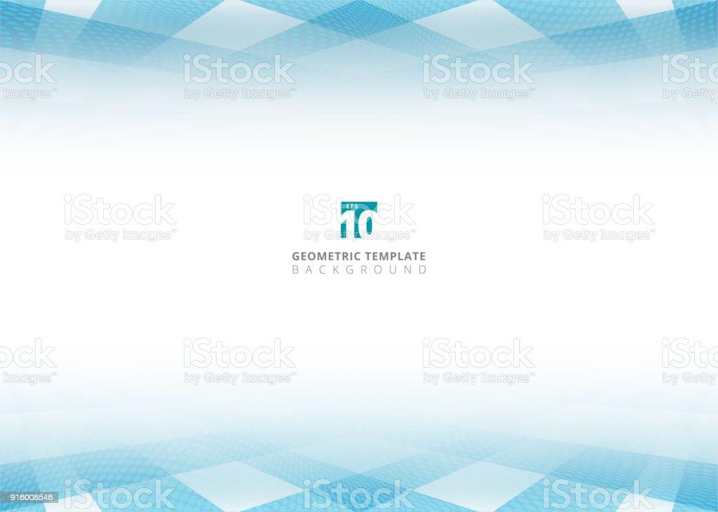 Ilustración de Abstracto Azul Cuadrado Patrón Y Semitono Puntos ...