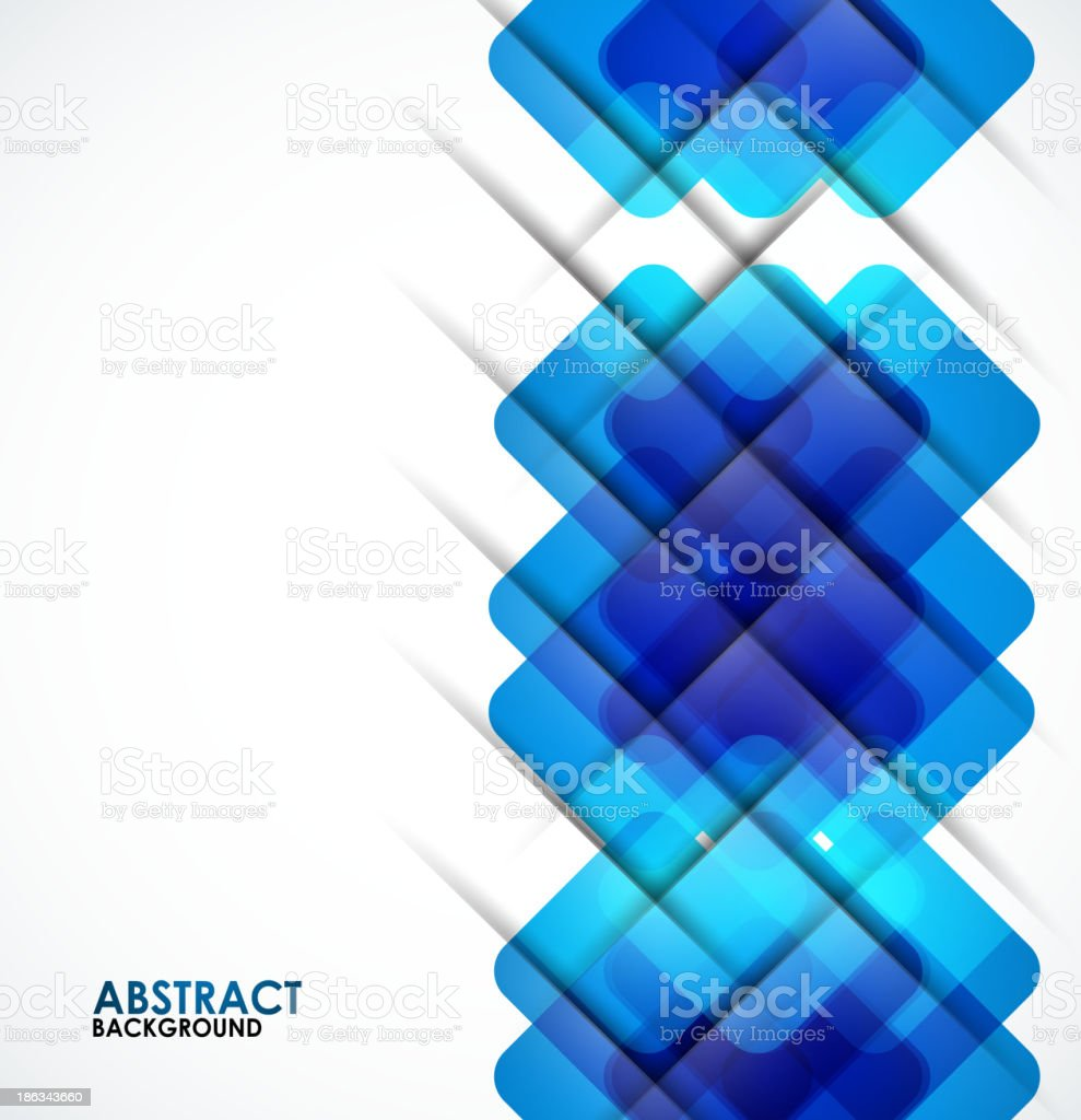 Abstract blue squares geometrical background royalty-free stock vector art