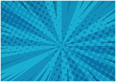 istock Abstract blue striped retro comic background 904466142